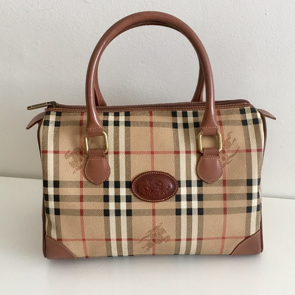 Burberry Handbags - Authentic BURBERRY nova check satchel  Boston bag 2378c65522bd0